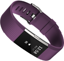 Fitbit Charge 2 in plum