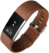 Fitbit Charge 2 in Brown Leather